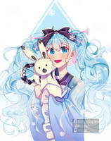 Snow Miku 2020 by Mocczz