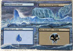 Altered Art MTG -SnowCovered Swamp/Island panorama by brunoprataaltermtg