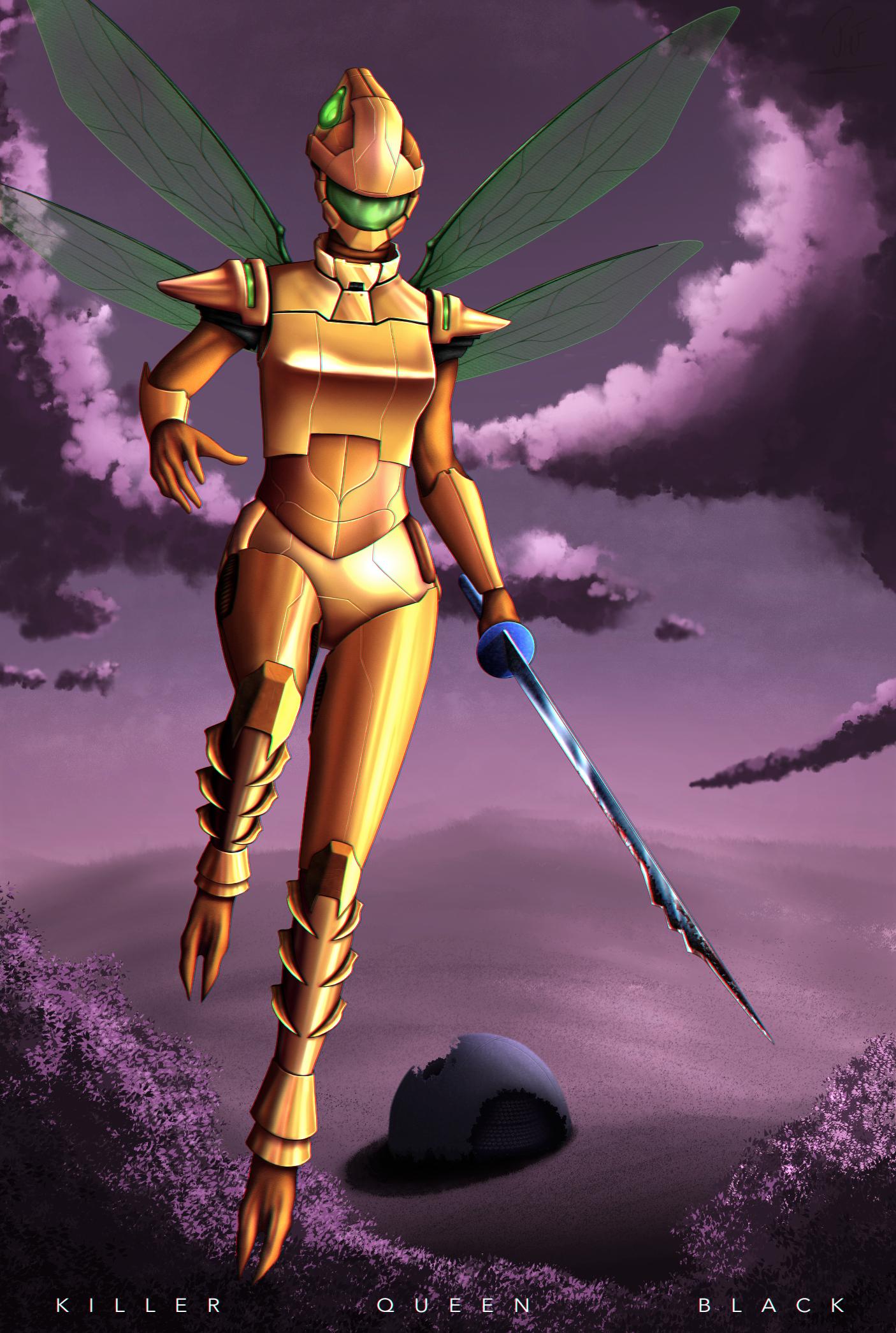 Yellow Queen - Killer Queen Black by Zumoggu on DeviantArt