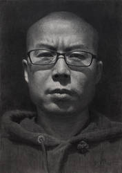 self portrait pencil drawing by zephyr0713