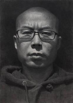 self portrait pencil drawing