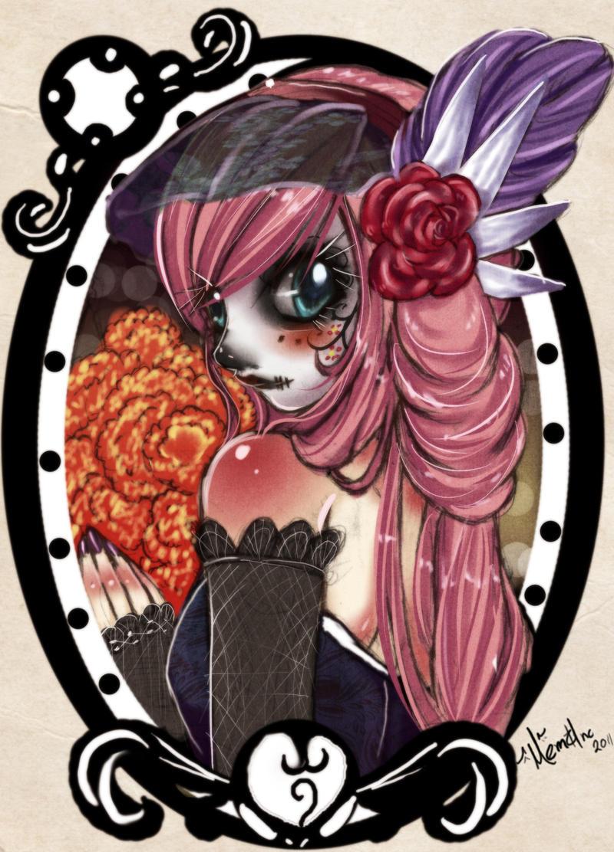 Pink Catrina by Memainc