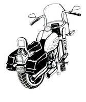 a motorcycle by alexvontolmacsy