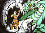 dragon and outclassed guy