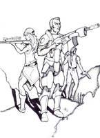 standoff with guns by alexvontolmacsy
