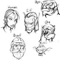 generic fantasy races by alexvontolmacsy
