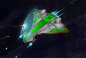 Scimitar,  a bit of wing commander fanart by alexvontolmacsy