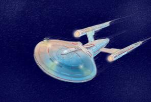 no rulers. no guides. non canon. starfleet vessel by alexvontolmacsy