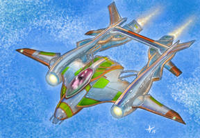 p38 in space .. ace... ace... ace... by alexvontolmacsy