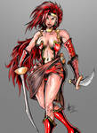 Red Monika of Battle Chasers fame