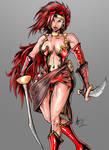 Red Monika of Battle Chasers fame by alexvontolmacsy