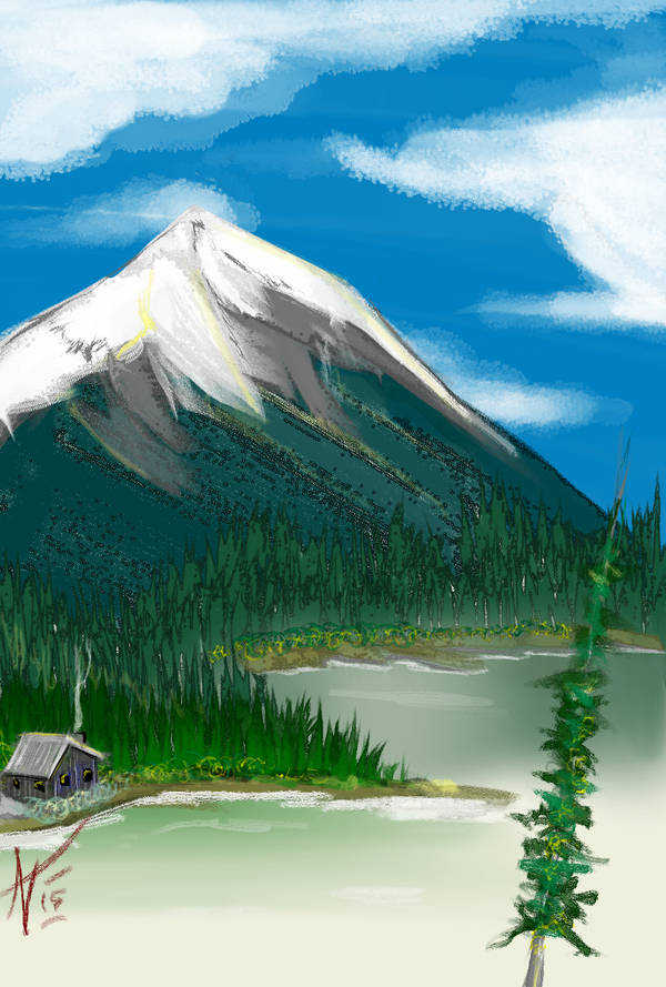 a happy cabin by a happy lake by alexvontolmacsy