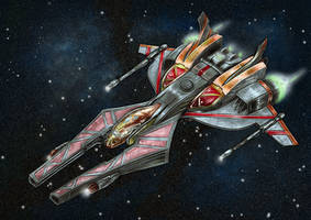 Ralari Destroyer from wing commander 1 by alexvontolmacsy