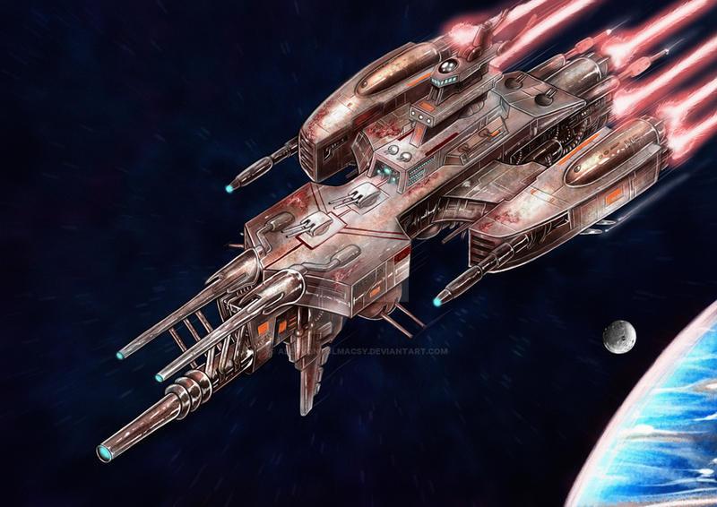 Aging BattleCruiser by alexvontolmacsy