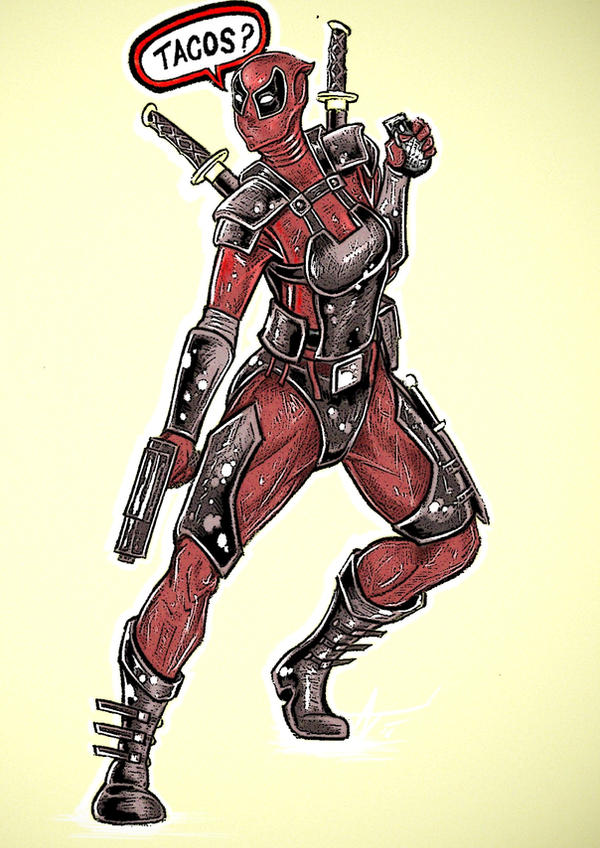 a female deadpool by alexvontolmacsy