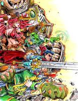 Battle Chasers Fanart by alexvontolmacsy