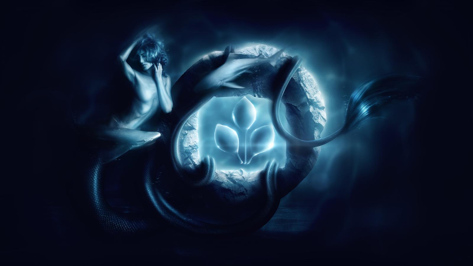Desktopography 2014: Deep Sea Light by AbbeyMarie