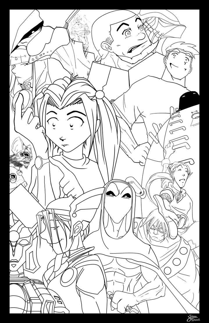 Line Art Game : The game line art by sean loco odonnell