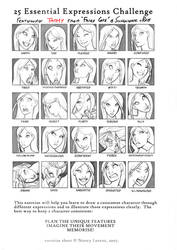 25 Expressions Challenge Tammy by ritam