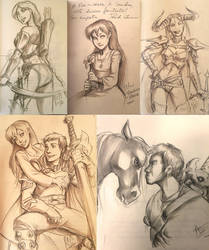 DARKWING-Sketches 02 Sgmantova by ritam