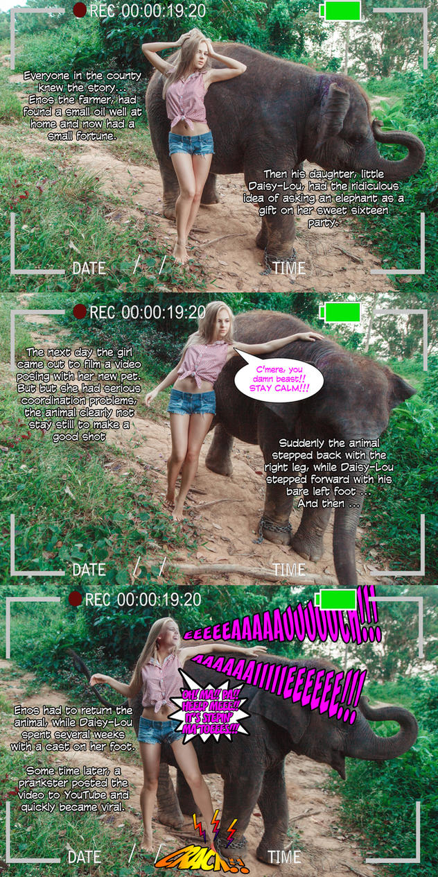 Hillbilly Girl in: Pachyderm troubles by YiYo666