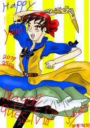 Hero of Dragon Quest VIII say Happy New Year by JaksanaBoonchom