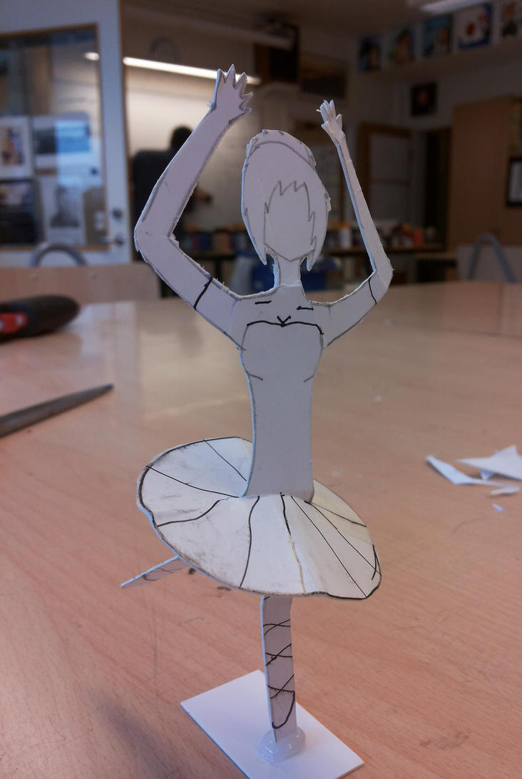 Simple Paper Chick Craft: Simple Paper Ballerina: Front By TeleviCat On DeviantArt