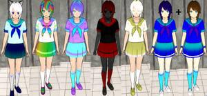 Yandere sim skin Update: My own skin designs