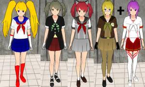 Yandere sim skin update: Anime skins + Dodo