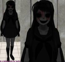 Yandere sim skin: Creepy skin by TeleviCat