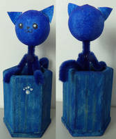 Blue kitty by TeleviCat