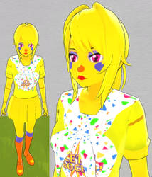 Yandere sim skin: Rockstar Chica by TeleviCat