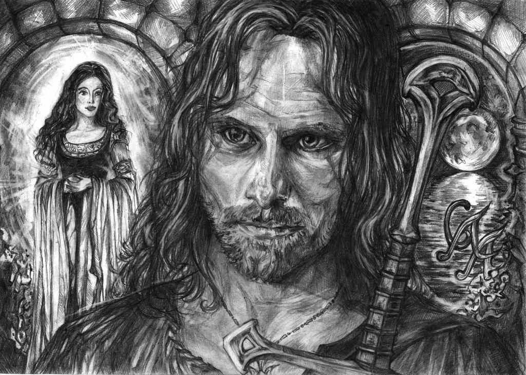 Aragorn and Arwen by Alexandra-Glazer