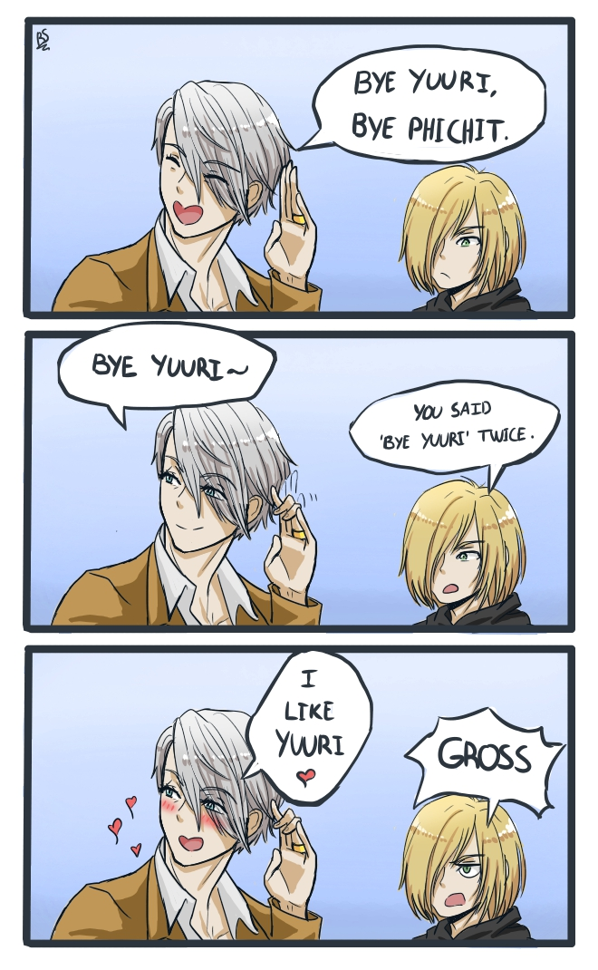 Comic: Viktor likes Yuuri by Rhape