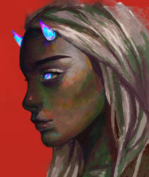 Demon girl by slyvanie