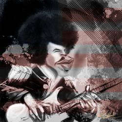 Jimi Hendrix Guitar by rodolfocarvalho
