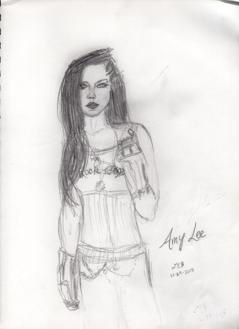 Amy Lee - Rough Sketch by LaurenBersek