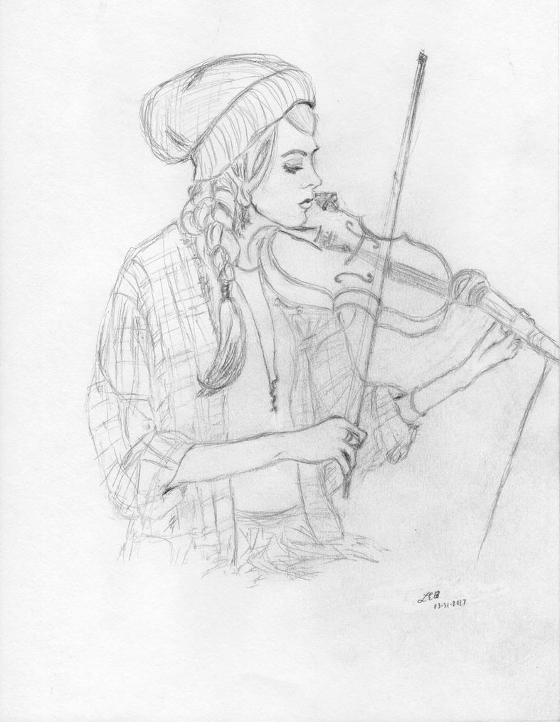 Lindsey Stirling - Soundcheck Rough Sketch by LaurenBersek