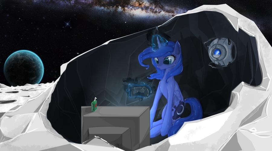 Gamer Luna by seyrii