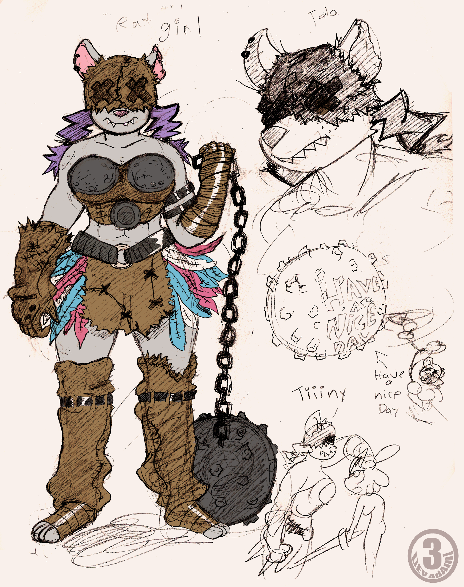 Barbarian Rat Girl Concept by Chooy64