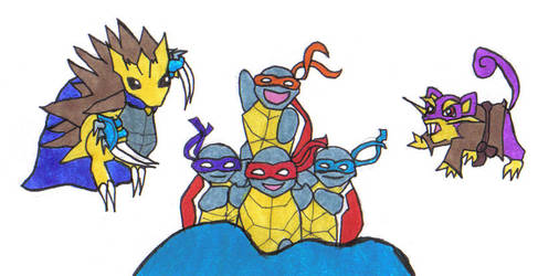 Teenage Mutant Squirtle Squad by LordXwee