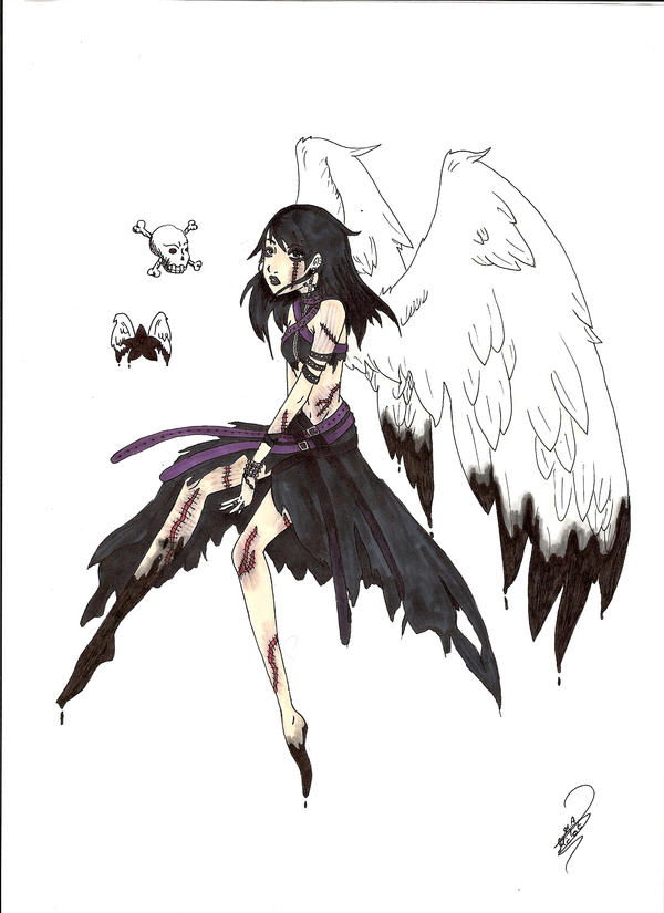 Sad Fallen Angel By Tania666 On Deviantart