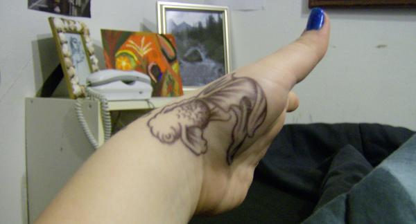 goldfish tattoo design. Goldfish Tattoo by
