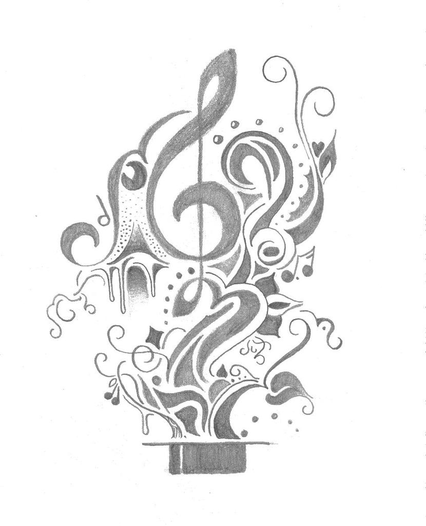 Music Tattoo- Commission by FarFallaLoduca on DeviantArt