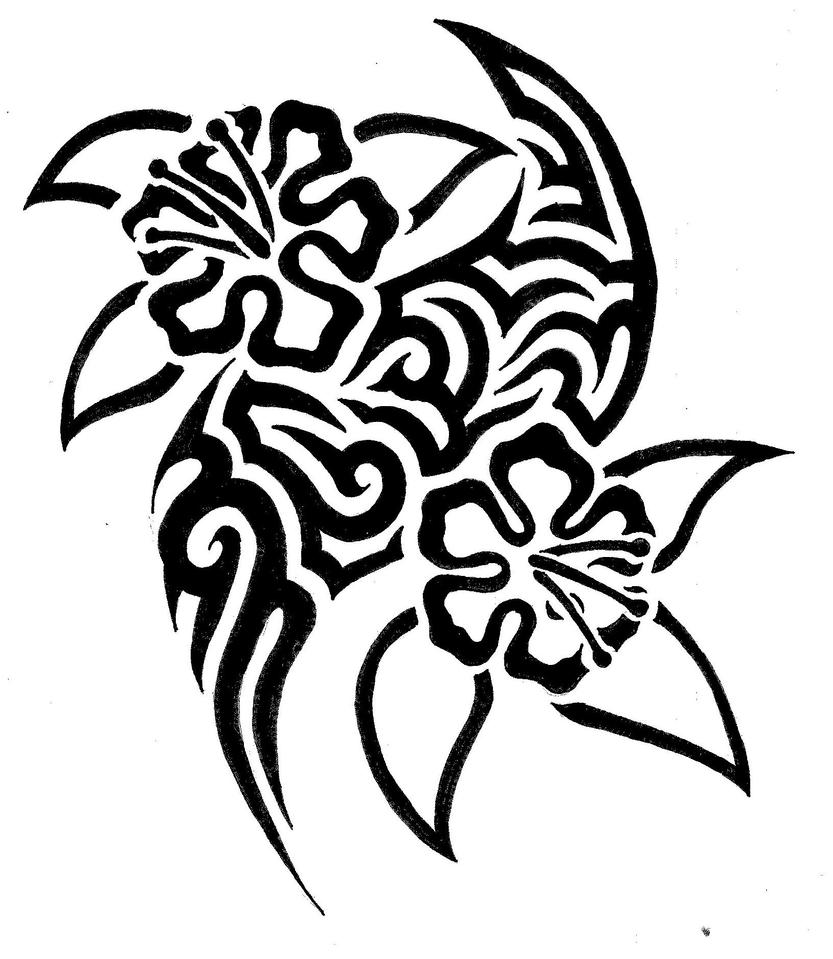 Tribal Flowers By Fensterfisch On DeviantArt