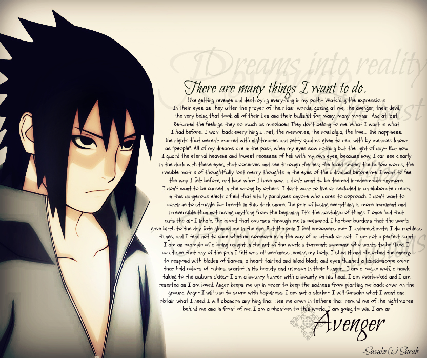 sasuke uchiha the avenger She is also the granddaughter of chouza akimichi and is best friends with sarada uchiha, sasuke's  sasuke uchiha  avenger  avenger  publisher.