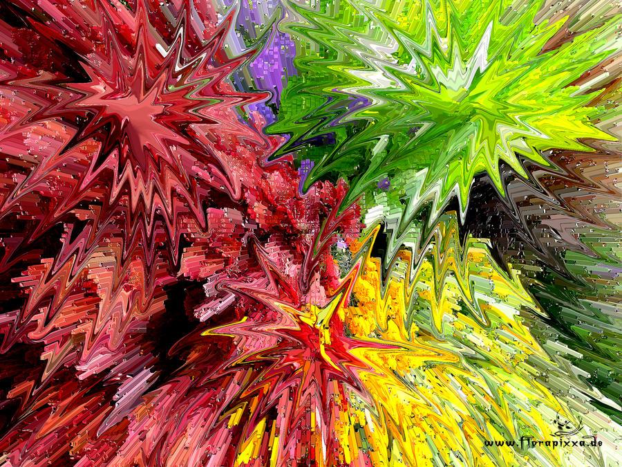 Floral fireworks by florapixxa