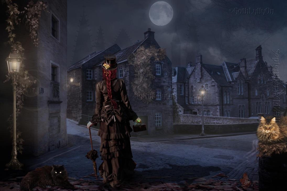 Victorian  Nocturnal Alleys-by-GothLyllyOn by GothLyllyOn