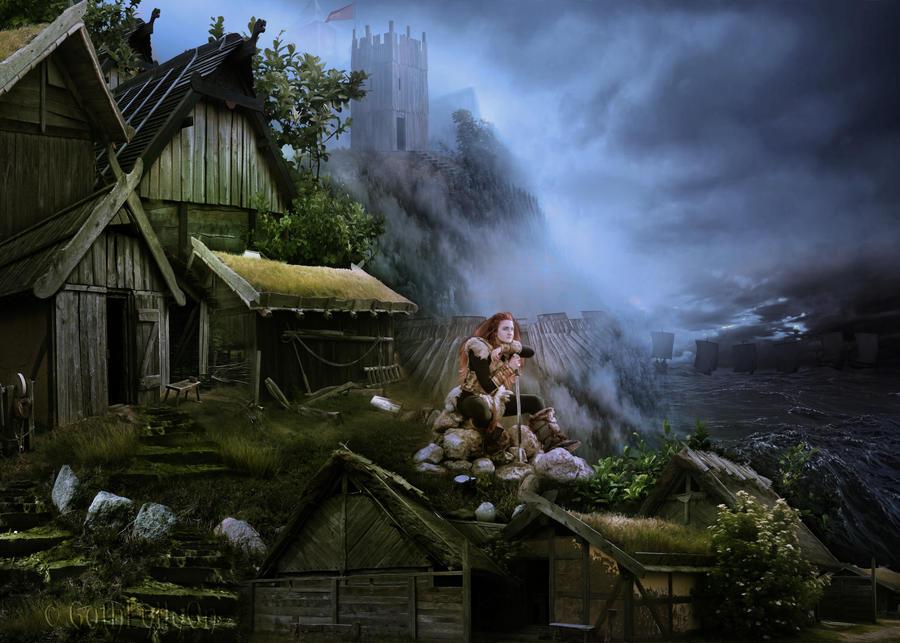 Viking's Village by GothLyllyOn