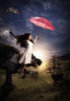 with my umbrella by Ischenda